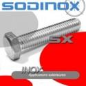 Vis TH inox tete hexagonale filetage complet DIN 933
