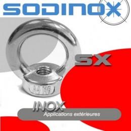 Ecrou a anneau inox DIN 582