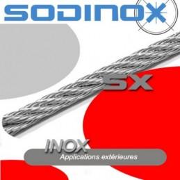 Cable souple 7x7 inox au mètre