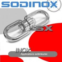 Emerillon a anneaux inox