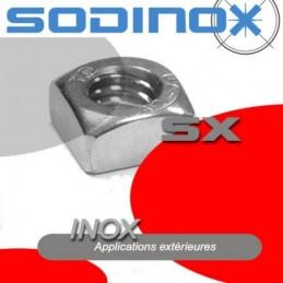 Ecrou carre inox DIN 557