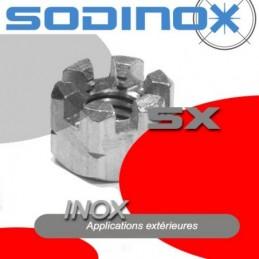 Ecrou creneaux inox DIN 935