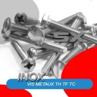Vis métaux TH, TBHC, DIN 933, DIN 931 tête hexagonale, tête fraisée, tête fraisée bombée inox